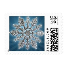 Snowflake Christmas Holiday Steel Metallic Postage