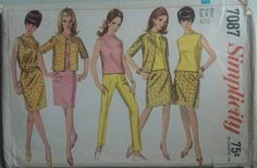 Vintage 1960s sewing Pattern Simplicity 7087 Misses  Separates B32 Complete