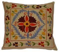Uzbek     Suzani Pillow | Preppy