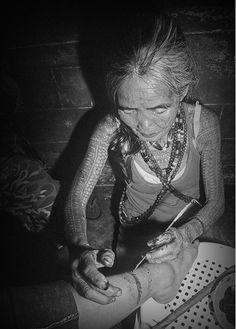 """Whang Od (Buscaian, Philippines)  """"When Whang Od was twenty-five, the man she was in love with died in a logging accident. Instead of looking for a new husband, she dedicated her life to tattooing, and now, sixty odd years later, she is the last practitioner of an art form that many scholars believe is nearly one thousand years old. Whang Od is still tattooing in her nineties."""""""
