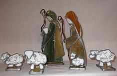 Heirloom 3D Stained Glass Nativity by SaltAndLightArts on Etsy #StainedGlassNativity