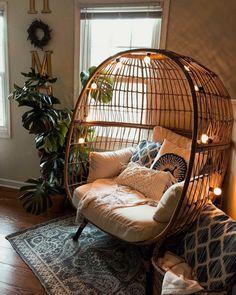 Room Ideas Bedroom, Bedroom Decor, Bedroom Inspo, Bedroom Designs, Bohemian Bedroom Design, Men Bedroom, Comfy Bedroom, Bedroom Seating, Bedroom Chair