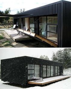 I'm digging this fold out deck! #shippingcontainer #shippingcontainerhouse #shippingcontainercabin #cabin #hunting #dyi #getaway #outdoorlife #outdoors #shippingcontainerplans #vacationhome #shippingcontainerconversion #green #greenhomes #greensolutions #tinyhouse #solar #solarpanel #solarsystem #offgrid #storagecontainer #containerlife #containers #windturbine #tinyhousemovement #tinyhousenation #container repost @buildyourown_containerhome #snowhouse #skicabin by fortheloveofjindabyne