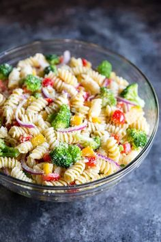 An easy Cold Pasta Salad recipe with broccoli, peppers, zesty Italian dressing and Parmesan cheese. Make it ahead; the flavor gets even better as it sits! #pastasalad #easypastasalad Easy Cold Pasta Salad, Best Pasta Salad, Cold Pasta Recipes, Pasta Salad Recipes, Recipe Pasta, Broccoli Pasta, Broccoli Recipes, Vegetable Recipes, Beef Recipes