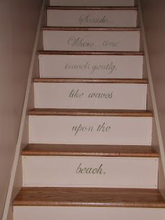 Ordinaire Stair Riser With Quote Stair Risers, Stair Steps, Painted Stairs, Folk,  Beach