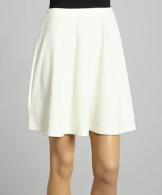 Love this Ivory Seamless Skirt by Zenana on #zulily! #zulilyfinds