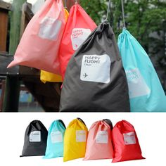 Multi Function Waterproof Travel Bag Set of 4 Weight: 100g Material: Lylon Packaging: Thick PVC Zip Bag Size: L- 44 X 30mm          M - 30 X 22mm          S - 22 X 15mm          XS – 15 X 11mm 5 colors are available now HKD 45/set Happy Flight, 4 In 1, Travel Bag, Pouch, Buy And Sell, Packaging, Zip, Personalized Items, Bags