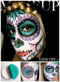 sugar skull makeup | Tumblr