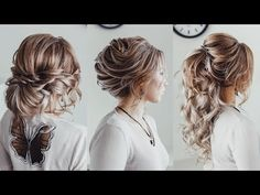 3 hairstyle ideas with extensions | Loose bun French twist | Curled Ponytale KuklaLu Compilation - YouTube