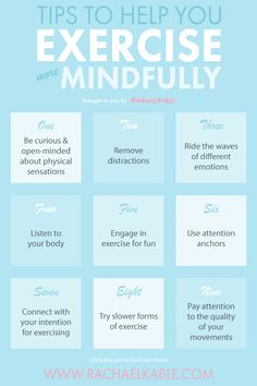 Discover simple ways to incorporate mindfulness into your exercise routine! These mindfulness tips will help you improve the quality of your movements, be less judgemental and enjoy exercise more. Mindfulness Activities, Mindfulness Practice, Mindfulness Meditation, Do Exercise, Regular Exercise, Stress Symptoms, Different Emotions, Self Care Routine, Mindful Living