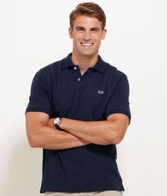 Whether you pop the rib trim collar or not, these colorful pure cotton piqué polos for men will put a little pizzazz in your wardrobe. Plus, you'll love the piqué weave's upscale style and the way hol