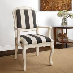 9 by Novogratz Antique Striped Arm Chair, Black Stripe BOUGHT IT! Great catch on it going on sale. I was monitoring it too, I had a feeling!