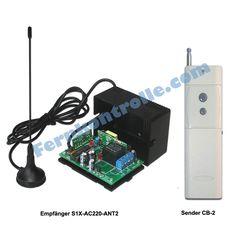 Funk Fernschalter Relais 220V 10A 2000M Zeitverzögert Empfänger /& Fernbedienung