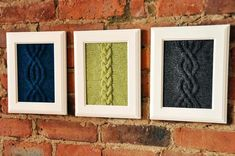 """""""Cable Panels"""" Knitted Wall Art 