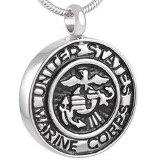 Divinely Sea Badge Stainless Steel Cremation Ash Pendant Jewelry Waterproof Ashes Keepsakes * Wonderful of your presence to drop by to see the photo. (This is an affiliate link) Marine Corps Symbol, Us Marine Corps, Marine Mom, Keepsake Urns, Memorial Urns, Necklace For Girlfriend, Cremation Jewelry, Birthstone Charms, Pendant Jewelry