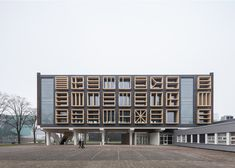 Bureau SLA adds flag-inspired windows to former naval base in Amsterdam