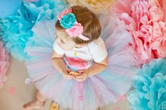 Cotton Candy Tutu by GigglesandWiggles1 on Etsy