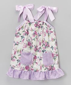 Lavender Floral Ruffle Swing Dress - Infant, Toddler & Girls