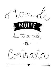 """Tua"" - Anavitória calligraphy inspiration by Paola Romani #caligrafia #anavitoria #tua"