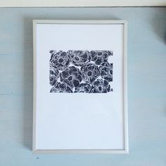 poppies linocut print hand pulled in a limited series of 30 modern botanics