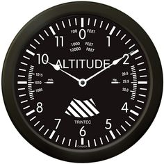 "New 2013 Product!... Large 14"" Altimeter Aviation Wall Clock - $39.95 - www.trintec.com"