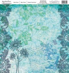 Recollections Blue Floral 218999