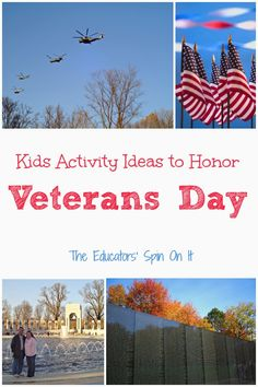 Veterans Day Activities for Kids. Here are a few ways to honor soldiers for Veterans day with your child and age appropriate ways to learn about the holiday from The Educators' Spin On It Veterans Day Activities, Kids Learning Activities, Autumn Activities, Educational Activities, Fun Learning, Service Learning, Preschool Ideas, Early Learning, Outdoor Activities