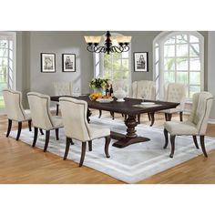 Best Quality Furniture 9 Piece Dining Set
