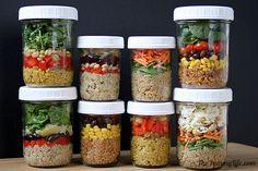 quinoa salad in jars #prepday #fastfood #clean