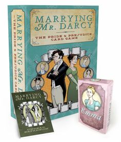Marrying Mr. Darcy: The Pride and Prejudice Card Game - It is a truth universally acknowledged, that lovers of Pride and Prejudice want to marry Mr. Darcy. Marrying Mr. Darcy is a strategy card game where players are one of the female characters from Jane Austen's novel Pride and Prejudice. Players work to improve themselves and attract the attention of the available Suitors. The ladies do this by attending Events and improving their Characters, but advantage can be gained by the use of…
