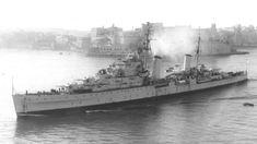 HMS Euryalis, Dido-Class AA Cruiser, WW2.