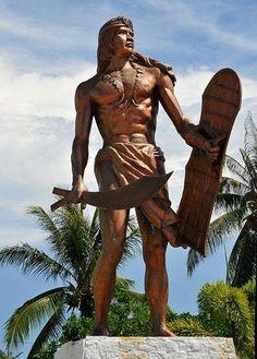 Lapu Lapu statue on cebu Philippines Cebu, Philippines Culture, Filipino Culture, Visayas, Adventures Abroad, Warrior Spirit, Cebu City, Baguio, Viking Warrior