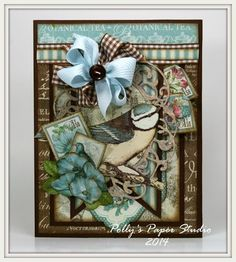 Such a beautiful card by Ginny Nemchak using Botanical Tea! What a gorgeous color palette #graphic45 #cards
