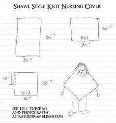 Knit nursing cover tutorial. Stays on and is quick and easy to make at Rae Gun Ramblings