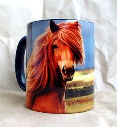 """Чашка """"Рыжий конь"""" 350 мл керамика, сублимационная печать 12$"""