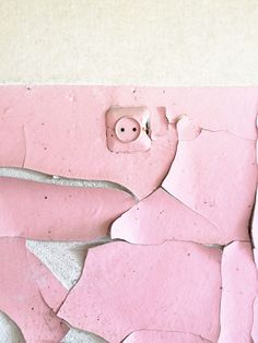 A look into Soviet aesthetics through abandoned innerness. Pink cracked paint texture.