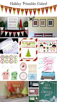 FREE Holiday Printables Galore~ Printables to go in frames, on presents, on tables, crafts, etc. Lots of good stuff!