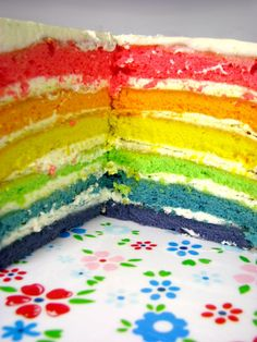 Tęczowy Tort / Rainbow Cake Just My Delicious
