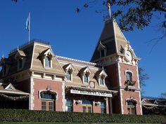 Disneyland Railroad Station Main Street by DisneyKrayzie, via Flickr