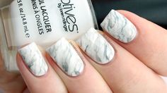 White Marble Nail Art with Tutorial | PackAPunchPolish | Bloglovin'