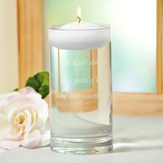 Light Shines Floating Memorial Vase and Candle