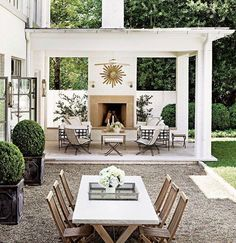 Outdoor entertaining space  Via @archdigest