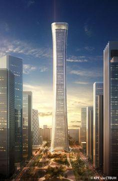 China Zun Tower, Beijing-China, 528 m, UC, architect design- Kohn Pedersen Fox Associates