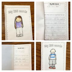 """MLK Jr. writing activity to go with the book, """"Martin's Big Words."""" Students write their own booklet of """"big"""" words that are important to them and explain why!"""