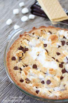 S'mores Pie ...it's a ooey, gooey, and divine dessert!