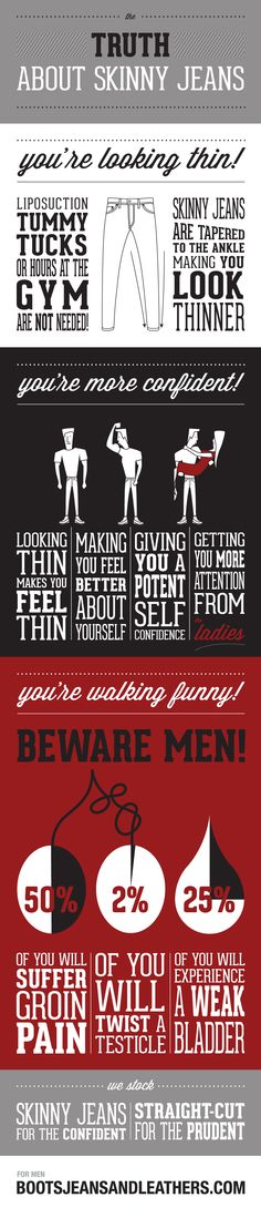 Mens fashion infographic - funny stuff. Print design / web design