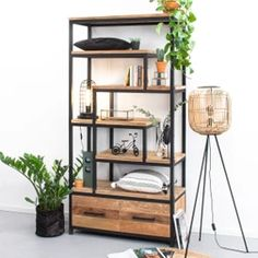 ZILT Industrial Wall Shelf Clay with 4 drawers, metal - SILT Industrial Wall Rack Clay with 4 drawers, metal - Home Office Design, Home Office Decor, Home Decor, Industrial Wall Shelves, Uni Room, Family Room Decorating, Wall Racks, Decoration, Bookcase