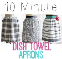 "1 dish towel, 85"" of ribbon, and 10 minutes of your time! Makes a cheap and easy…"
