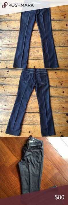 7 For All Mankind Flynt Jeans, 31, excellent cndtn 7 For All Mankind Jeans, Flynt Slim Bootcut, Size 31. Excellent preowned condition. 7 For All Mankind Jeans Boot Cut