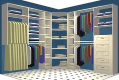 Closet organization. This would be absolutely amazing@!